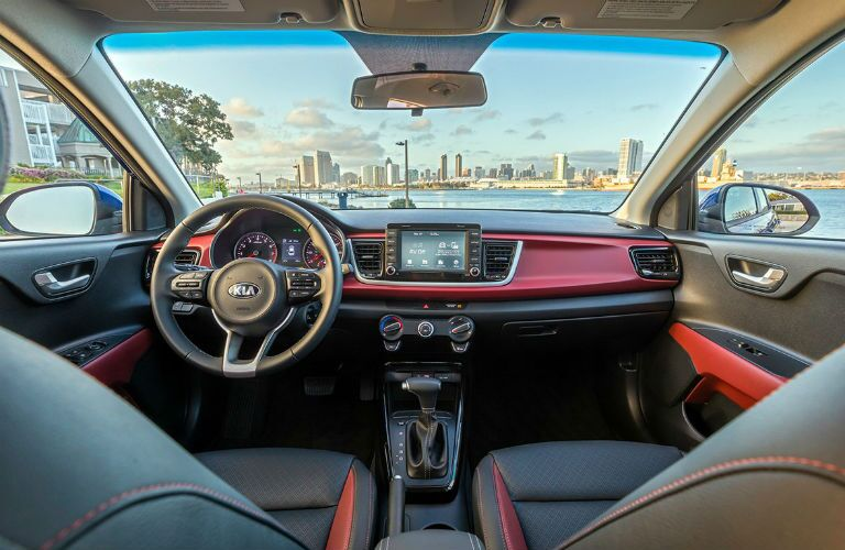 2018 kia rio 5 interior with infotainment and more in focus