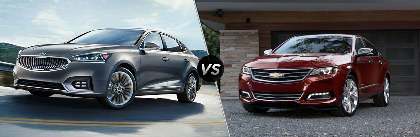 side by side comparison of 2019 kia cadenza vs 2020 chevrolet impala