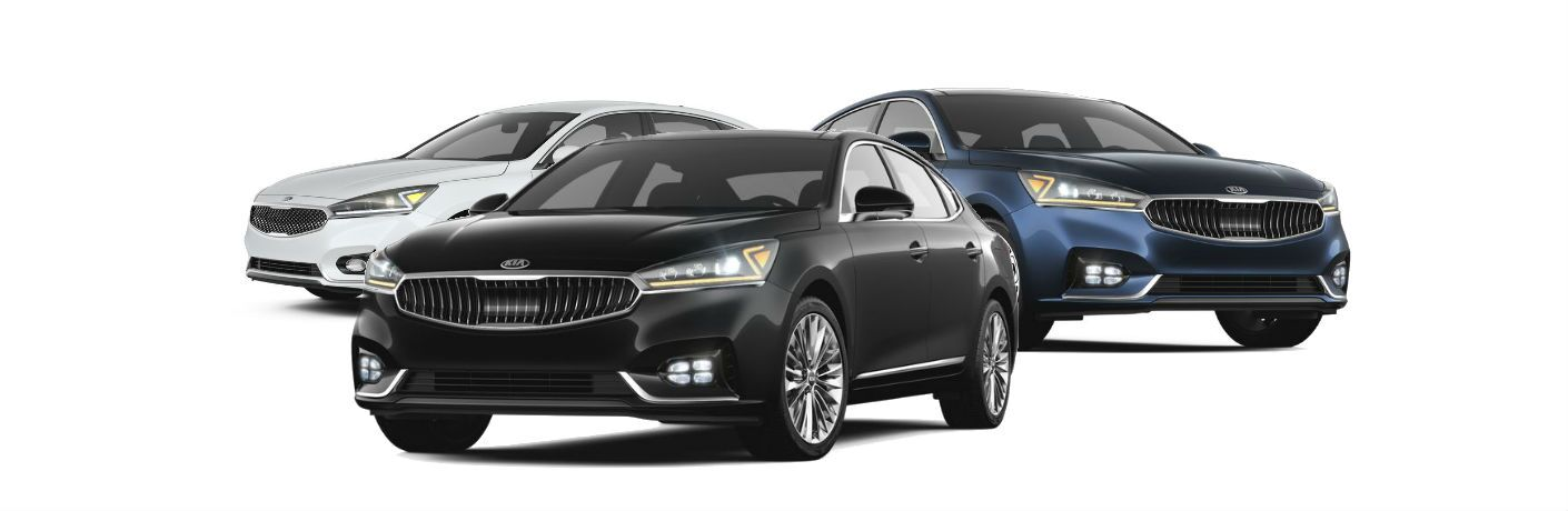 Picture showing three Kia Cadenza trim levels