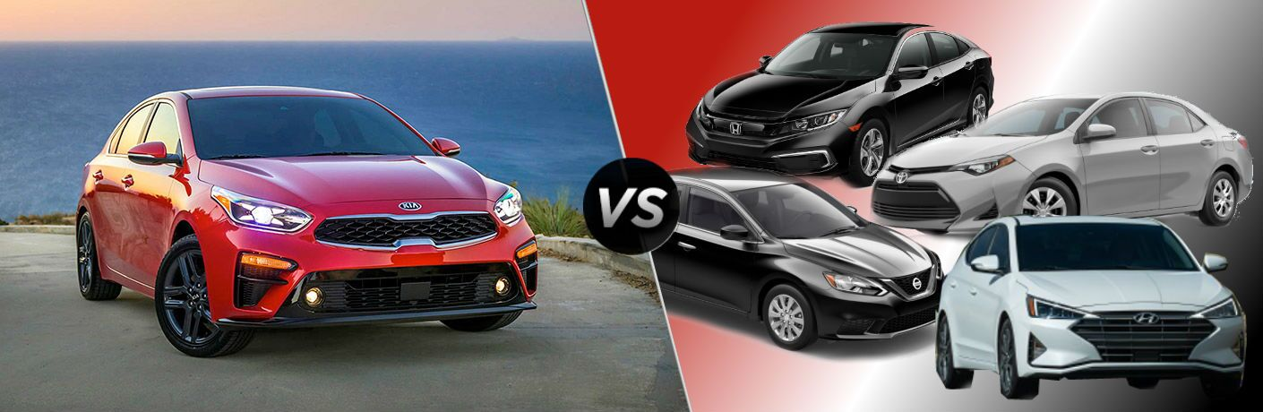 2019 Kia Forte Vs. Compact Competition split screen image