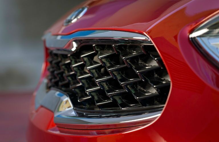 grille detail of 2019 kia forte