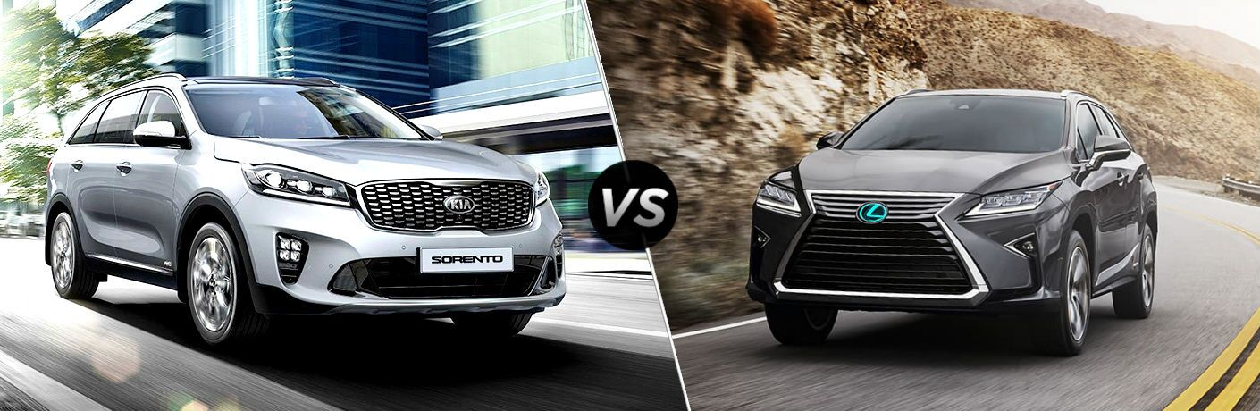 2019 Kia Sorento Vs. 2019 Lexus RX comparison
