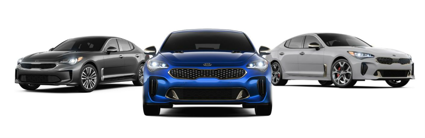 2019 Kia Stinger trim levels shown side by side