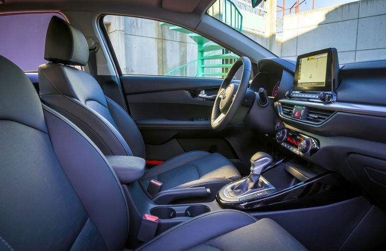 interior of 2019 kia forte shown from passenger seat