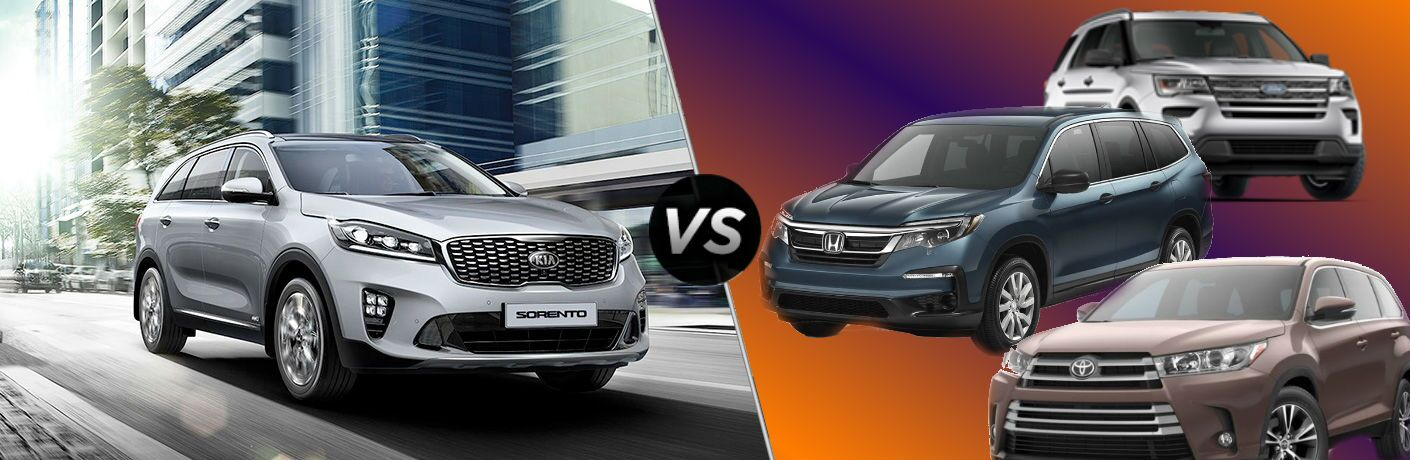 2019 Kia Sorento Vs. Third-Row SUV Competition splash image