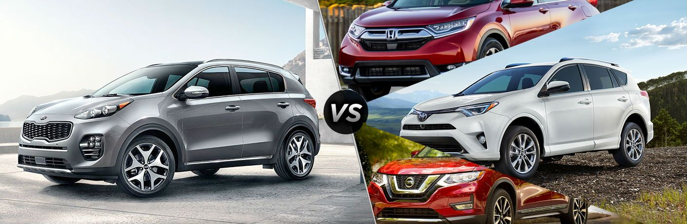 2019 Kia Sportage Vs. the Competition on split screen image