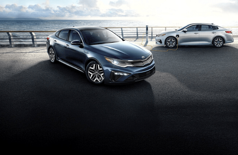 Two 2020 Kia Optima Hybrid models