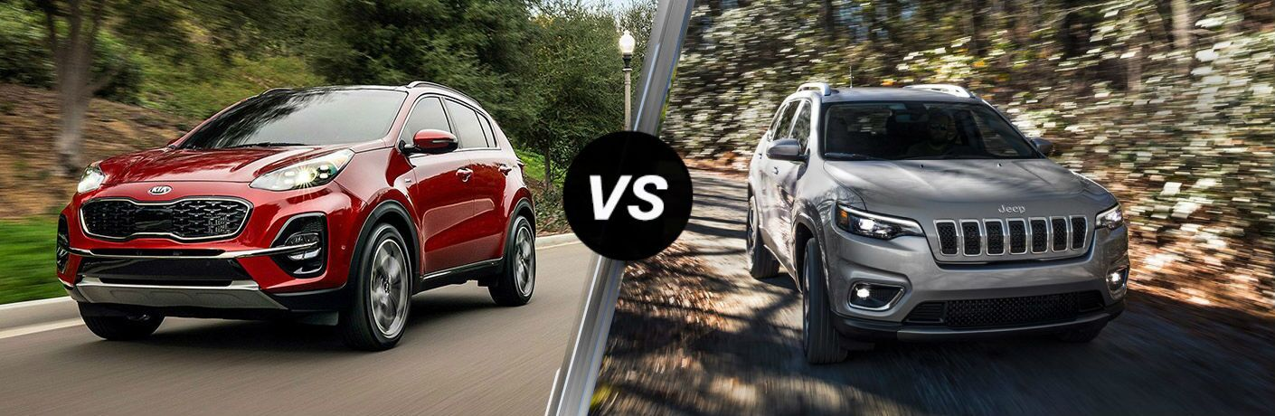 2020 Kia Sportage Vs. 2019 Jeep Cherokee side by side