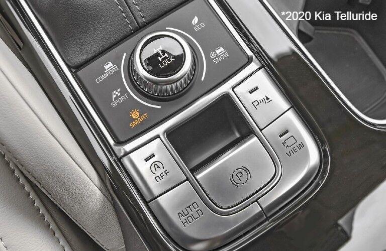 Drive mode buttons in 2020 Kia Telluride