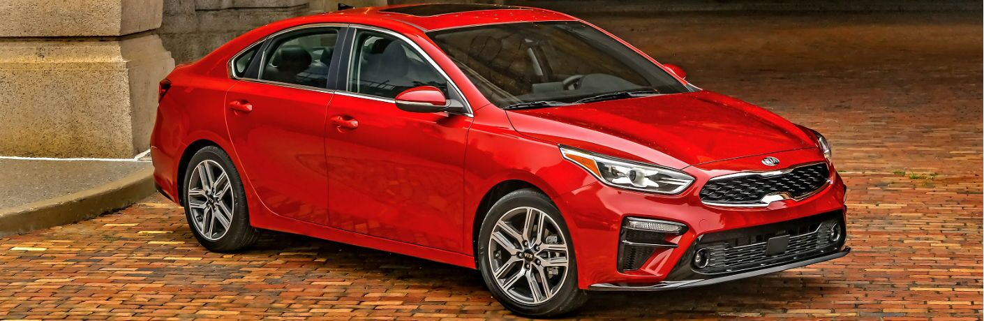 red 2020 kia forte gt