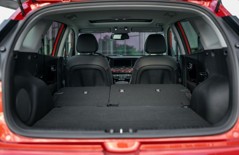 Interior view of 2020 Kia Niro trunk