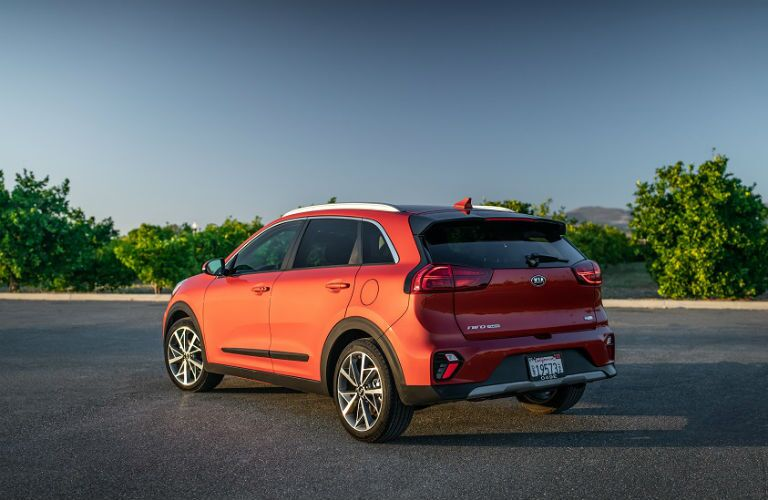 rear three quarter shot of 2020 Kia Niro