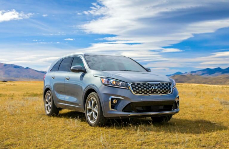 2020 Kia Sorento parked on a grassy field