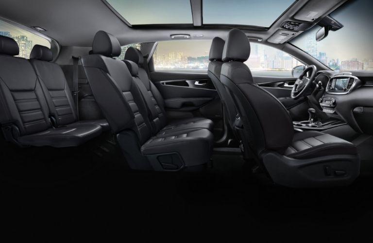 Interior view of 2020 Kia Sorento