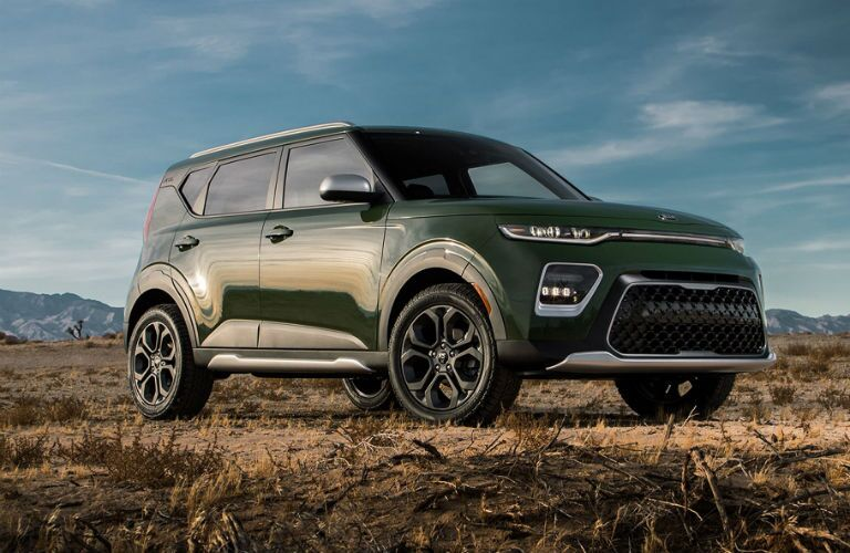 2020 kia soul x line parked on grass