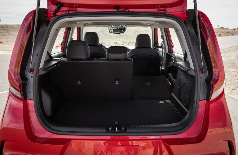 Cargo area in 2020 Kia Soul