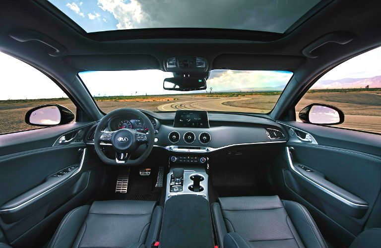 interior of 2019 kia stinger gts