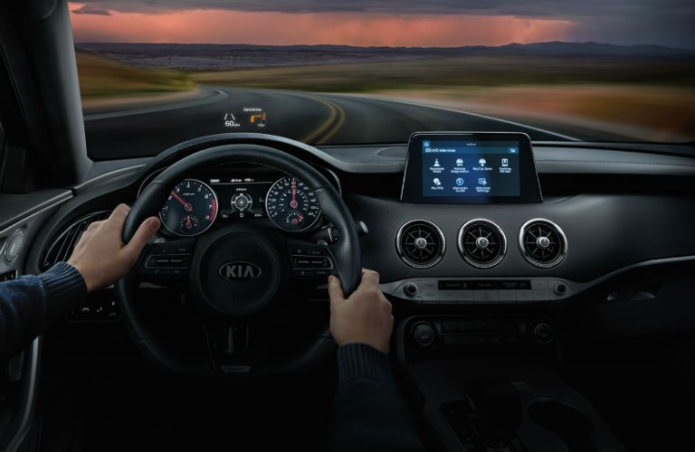 dash and HUP in 2020 Kia Stinger
