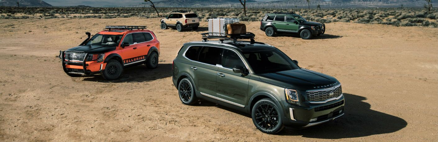 2020 Kia Telluride Trim Levels Comparison variants in the desert