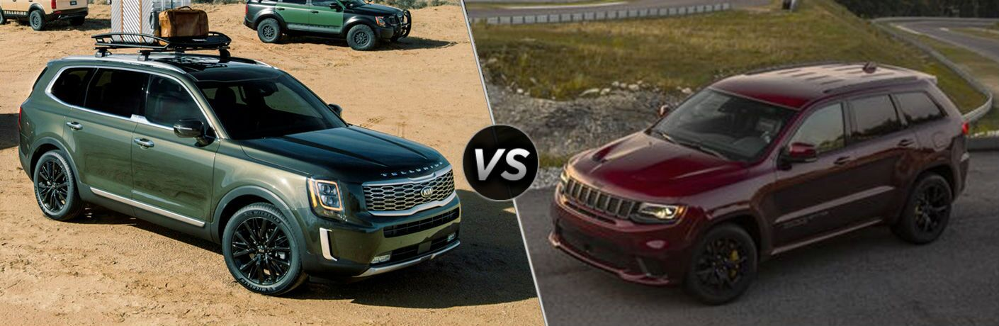 side by side comparison of 2020 Kia Telluride Vs. 2020 Jeep Grand Cherokee