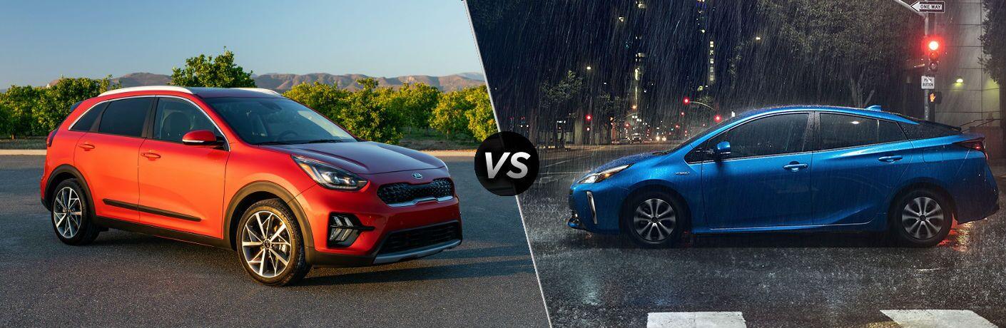 side by side comparison of 2020 Kia Niro Vs. 2020 Toyota Prius
