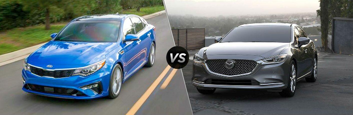 side by side comparison of 2020 Kia Optima Vs. 2019 Mazda6