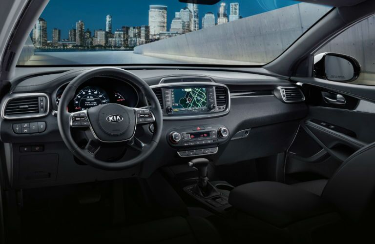 dash and interior of 2020 kia sorento