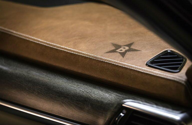 leather detail of 2020 kia telluride