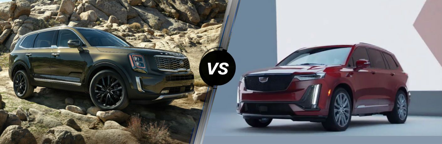 2020 Kia Telluride Vs. 2020 Cadillac XT6 side by side split