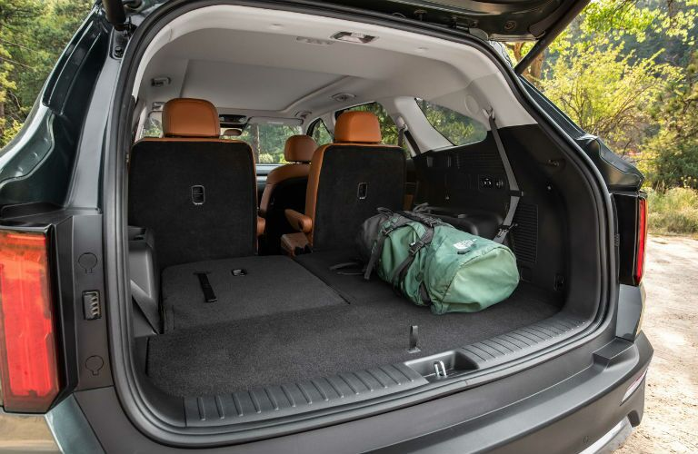 Open trunk of 2021 Kia Sorento X-Line