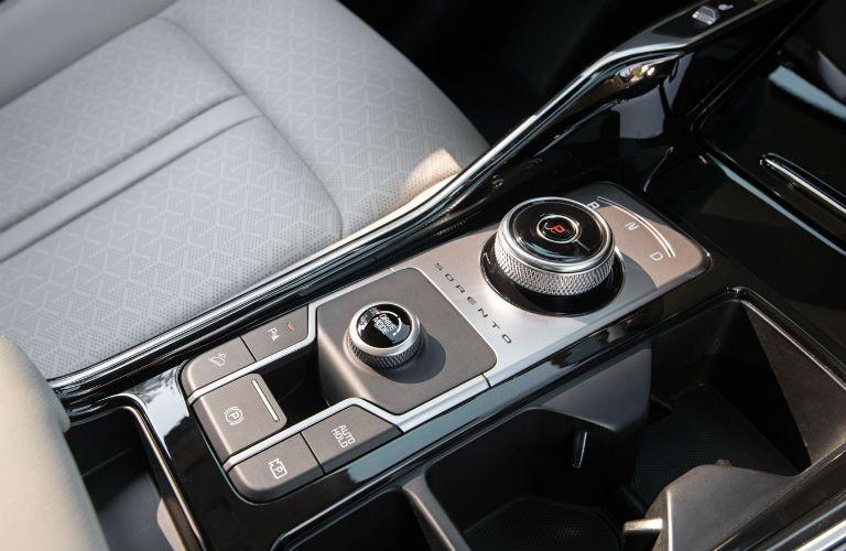 Center console in 2021 Kia Sorento Plug-in Hybrid