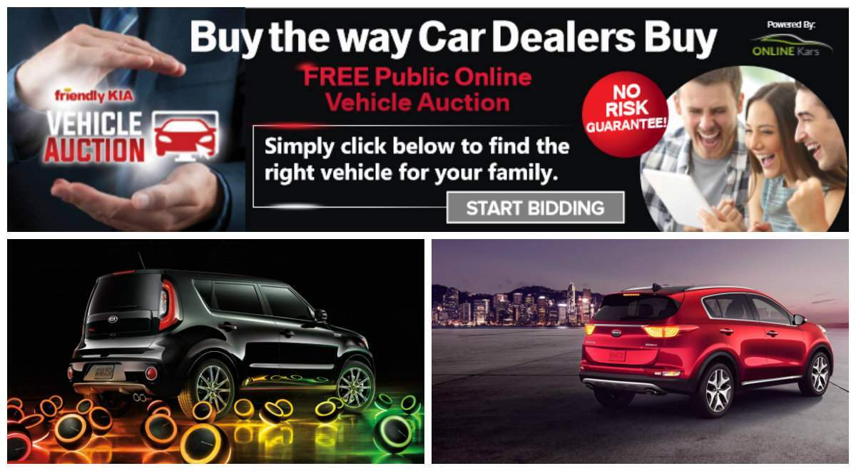 Friendly Kia online auctions powered by Online Kars