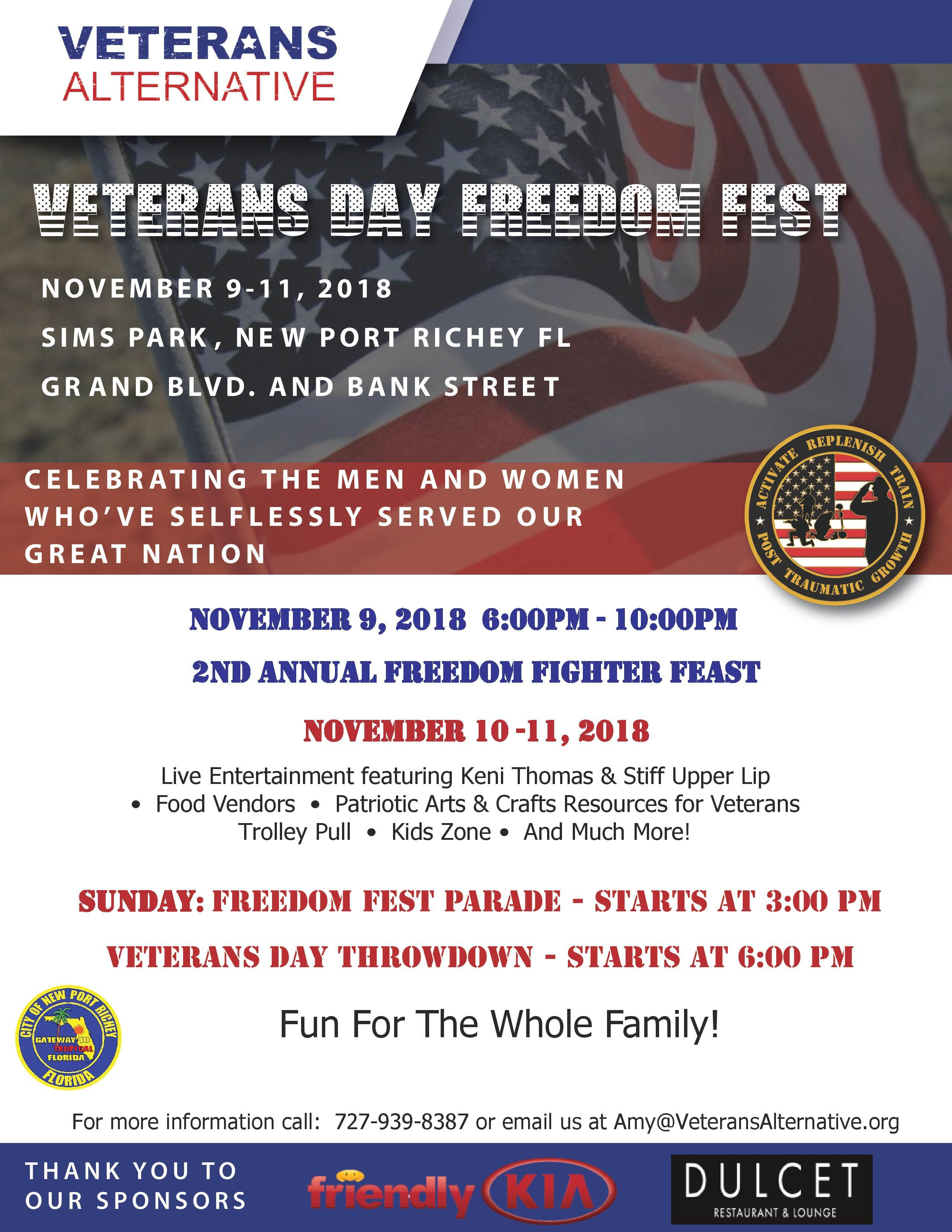 freedom fest 2018 poster for friendly kia with details