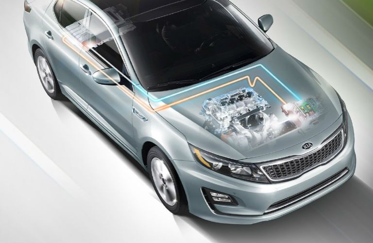 2016 Kia Optima Hybrid net power 199 HP