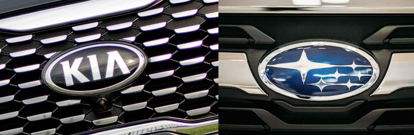 kia vs subaru model grilles compared for model comparison page