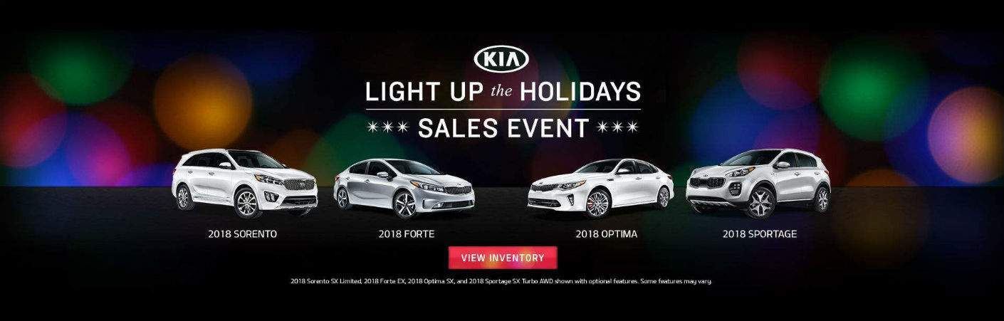 Light Up the Holidays sales event 2018 Kia models
