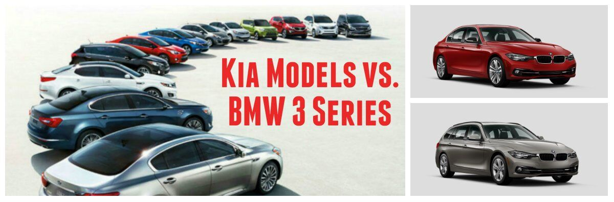 Kia models Forte Optima Soul Sportage vs. BMW 3 Series