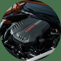 engine bay of 2020 kia stinger gts