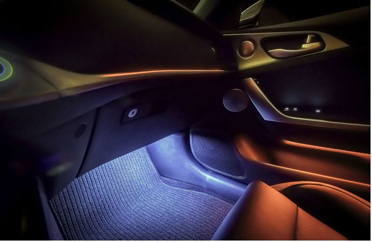 Ambient lighting in 2020 Kia Stinger