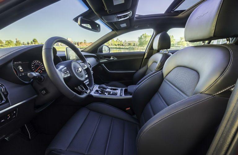 Interior view of 2020 Kia Stinger