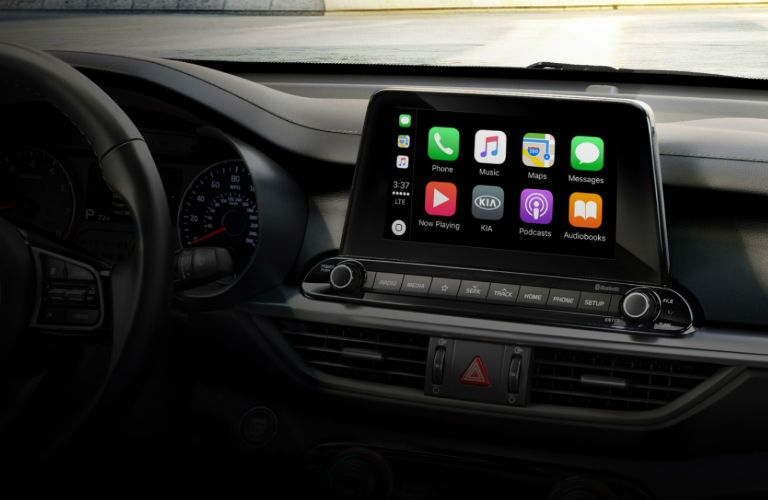 infotainment display in 2020 kia forte gt-line