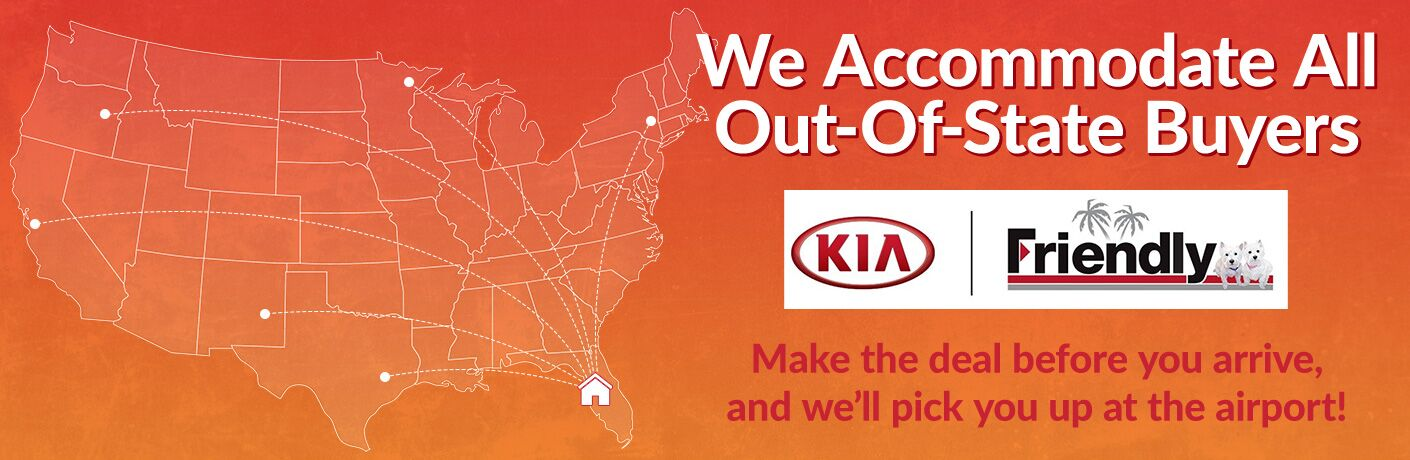 Friendly Kia out-of-state buyers plane rides MSRP discounts Tampa FL