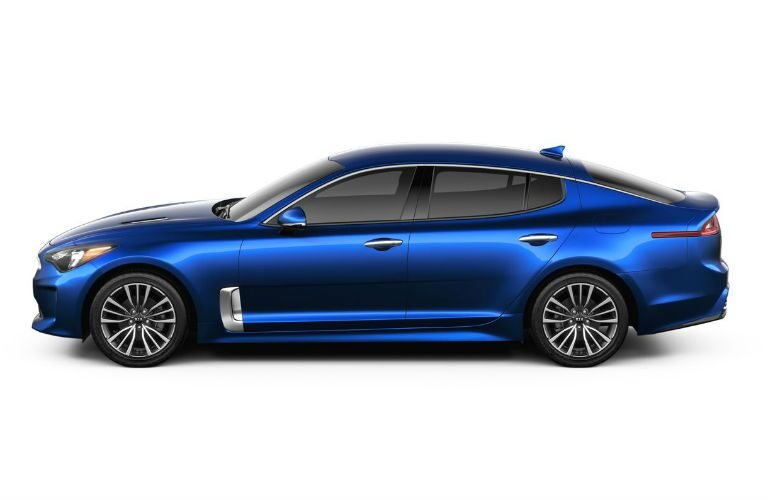 2019 kia stinger base profile in blue