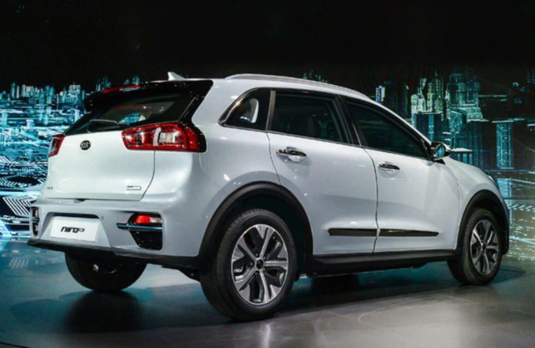 rear hatch of 2019 kia niro ev in white