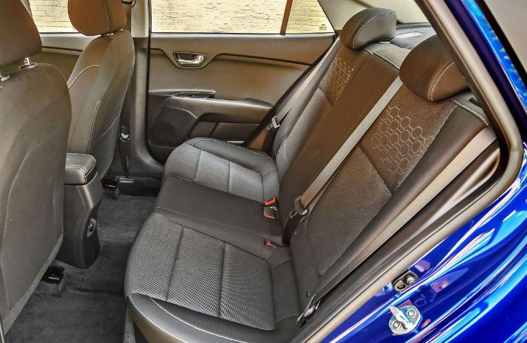 rear seat in 2020 kia rio sedan
