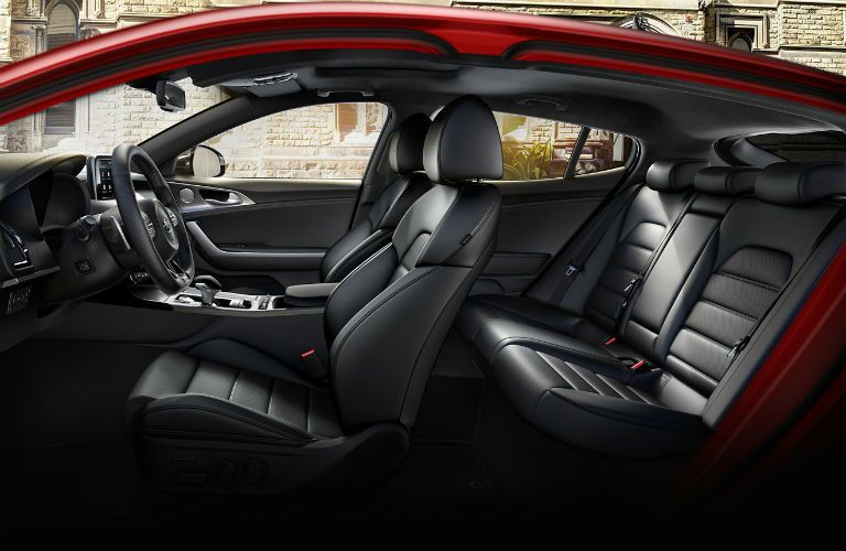 cutaway profile of seating in 2020 kia stinger gt2