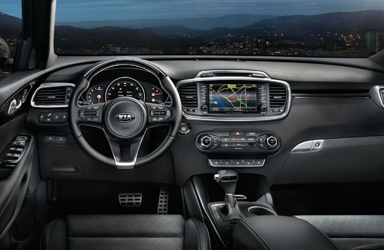 dash and infotainment in 2018 kia sorento