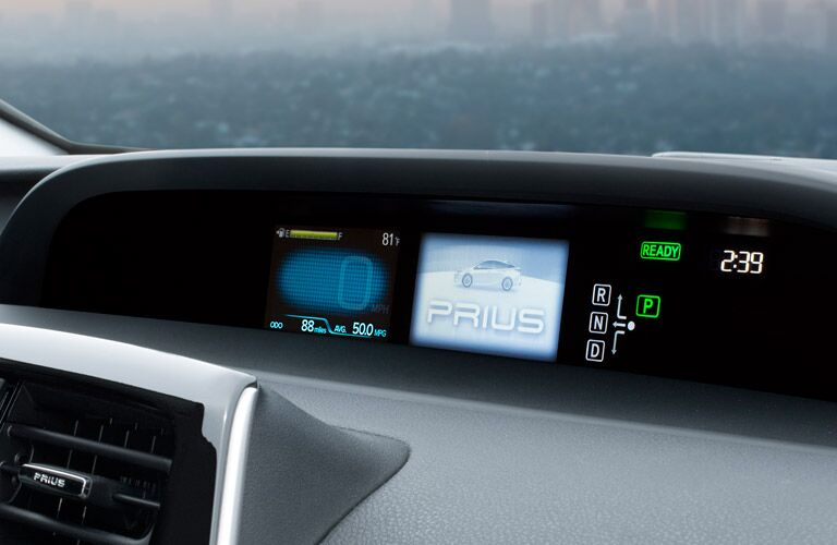 2017 Toyota Prius mulit-information display