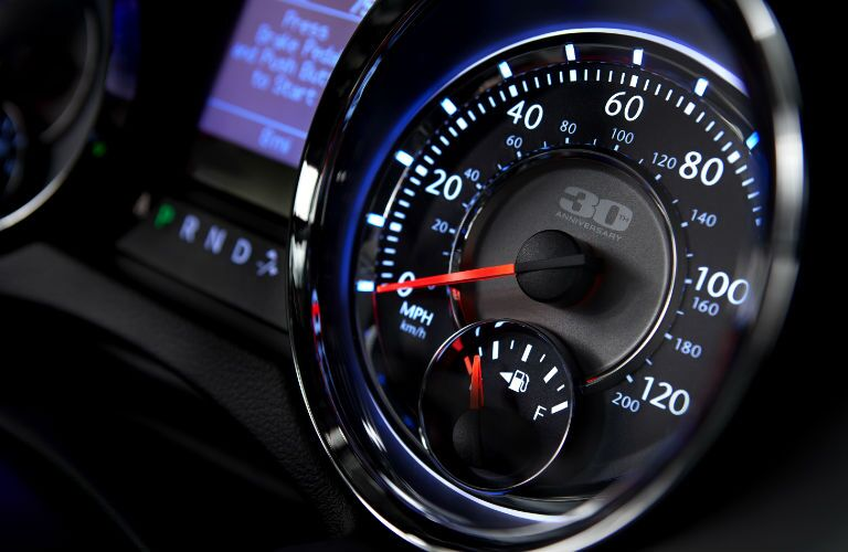 Used car speedometer