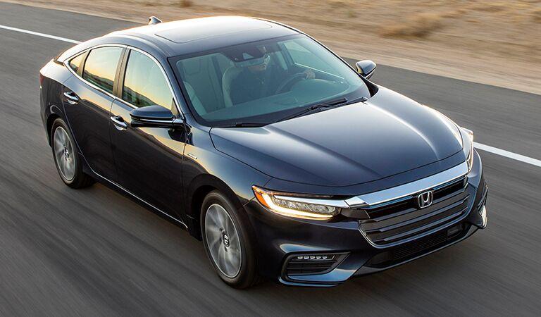 2019 Honda Insight driving on a rural road